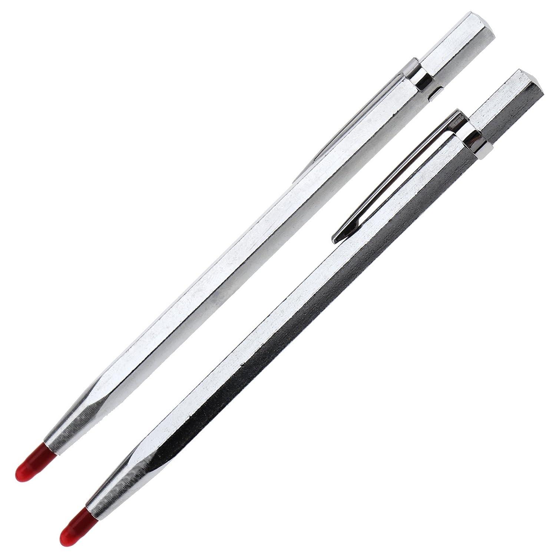 2PCS Tungsten Carbide Point Tip Scribing Pens Engineer Detail Scriber Craft Tool D2D