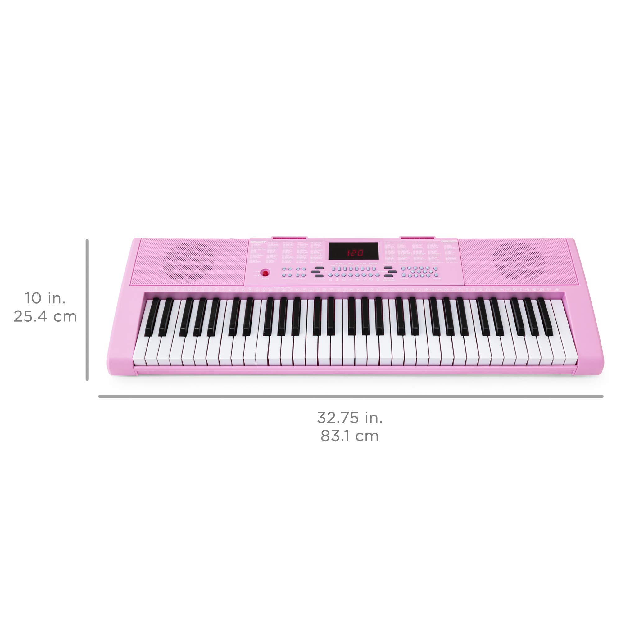 Best Choice Products 61-Key Portable Electronic Keyboard Piano with LED Screen, Record & Playback Function, Microphone, Headphone Jack (Pink) by Best Choice Products (Image #6)