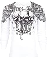 Xtreme Couture AFFLICTION Men THERMAL T-Shirt OVER THE TOP Biker UFC