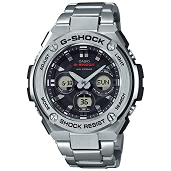 Amazon Com Casio G Shock G Steel Slim Mens Tough Solar Silver Watch