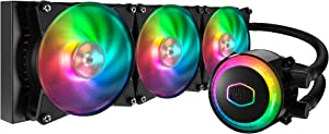 Cooler Master MLX-D36M-A20PC-R1 MasterLiquid ML360R Addressable RGB AIO CPU Liquid Cooler 28 Independently-Controlled LEDs Triple 120mm ARGB Air Balance MF (Renewed)