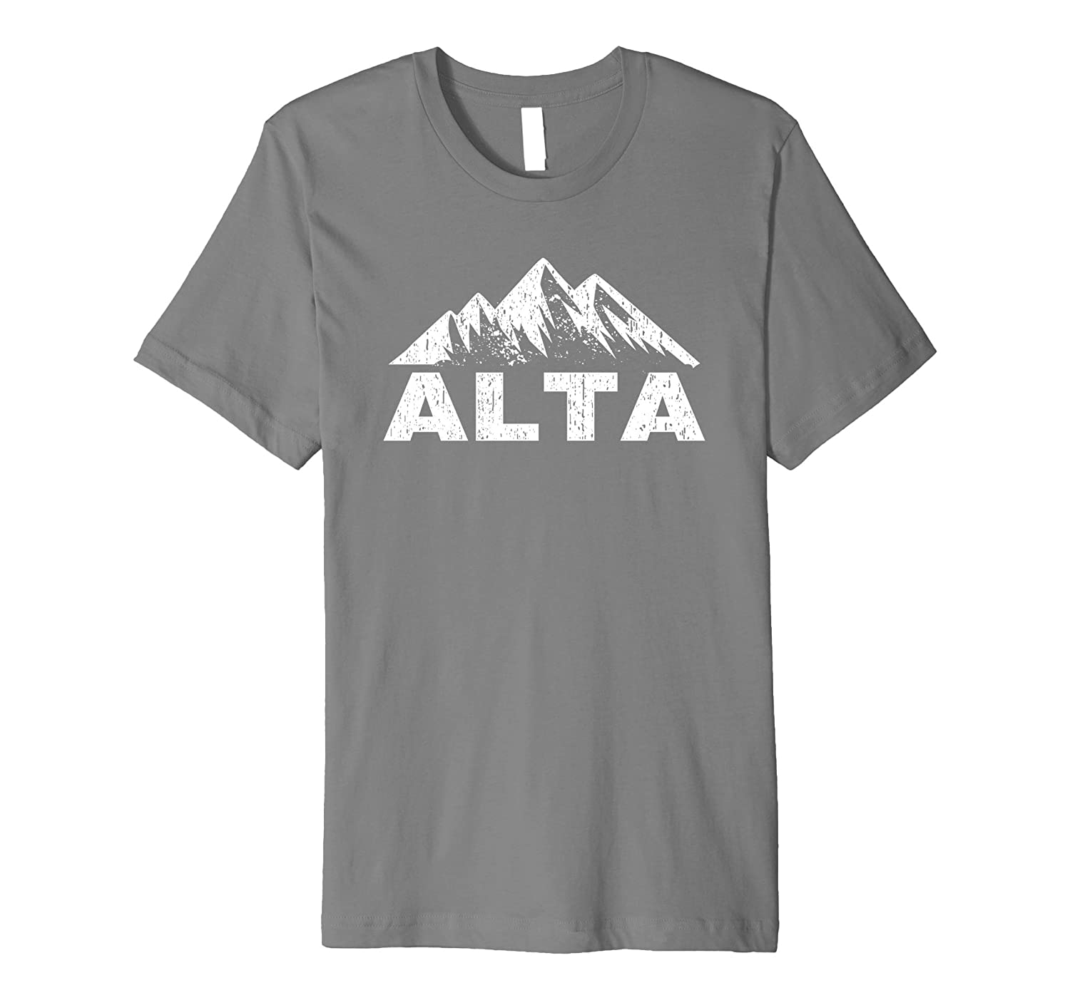 Alta Utah With Mountains Distressed Home T-Shirt