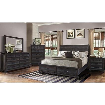 Amazon.com: Best Master Furniture 5 Pieces Kate Bedroom Set Queen ...