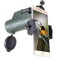 BEKVOT 10x42 Puissant Compact Imperméable Monoculaire, avec Adaptateur de Smartphone Universel, Choix Idéal pour Les Adultes Chasse, Tir, Camping et Exploration de la Faune