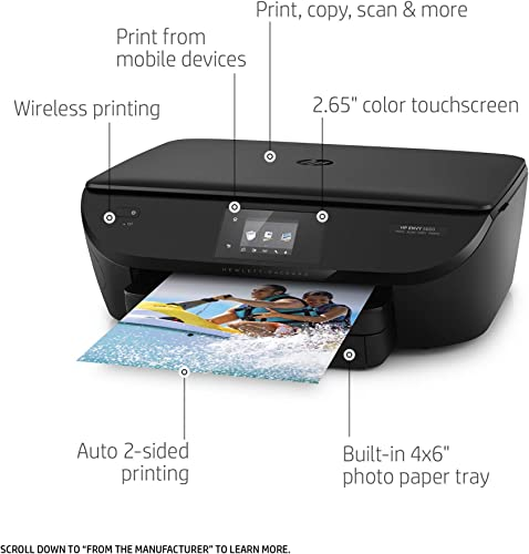 HP ENVY 5660 Wireless All-in-One Photo Printer with Mobile Printing, HP Instant Ink Amazon Dash Replenishment ready F8B04A Renewed