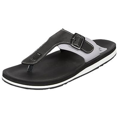 53582e6aef76 Adda Men's Omega 1 Black & White Flip Flops: Buy Online at Low ...
