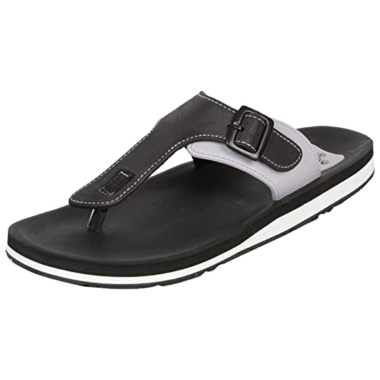 Adda Men's Omega 1 Black & White Flip Flops Men's Fashion Sandals at amazon