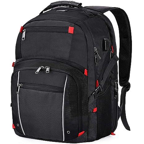 comprare popolare 7b4e5 17c7a Zaino PC Portatile Uomo 17.3 Pollici Impermeabile con Carica USB Zaino  Laptop da università Business Multifunzionale Zaino da Viaggio Grande  Capienza ...