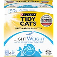 Tidy Cats Glade Clear Springs Lightweight Cat Litter for Multiple Cats - 5.44 kg