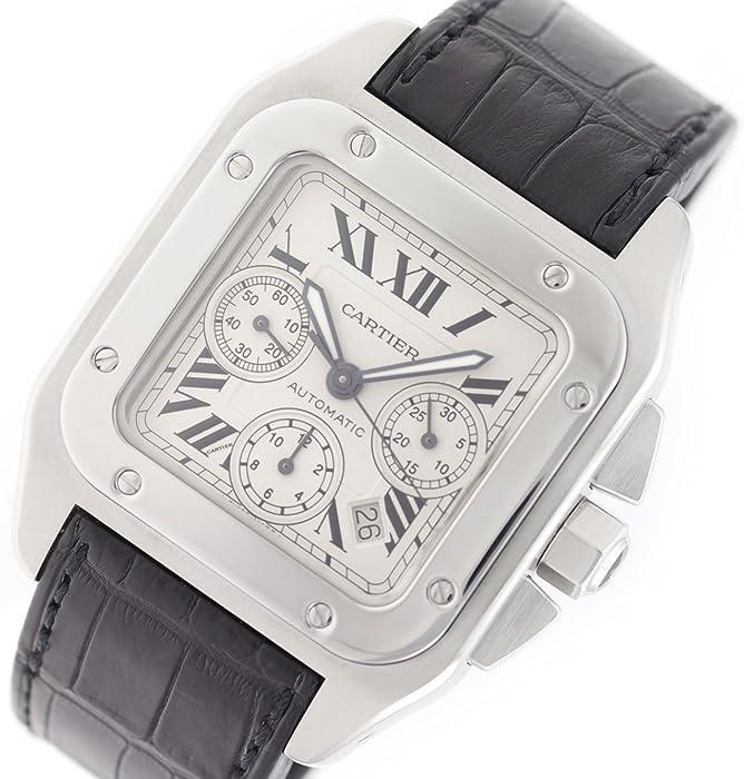 Cartier Santos 100 Swiss-Reloj automático Macho W20090X8 (Certificado pre-Owned)