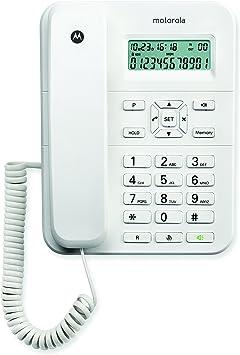 Motorola CT202 - Teléfono de sobremesa con Cable, Color Blanco ...