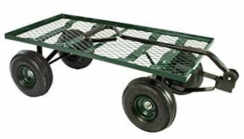 Perfect Erie Tools Steel Flatbed Garden Cart 38u0026quot;x 20u0026quot; Yard Wagon Heavy  Duty And