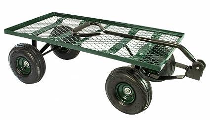 Nice Erie Tools Steel Flatbed Garden Cart 38u0026quot;x 20u0026quot; Yard Wagon Heavy  Duty And