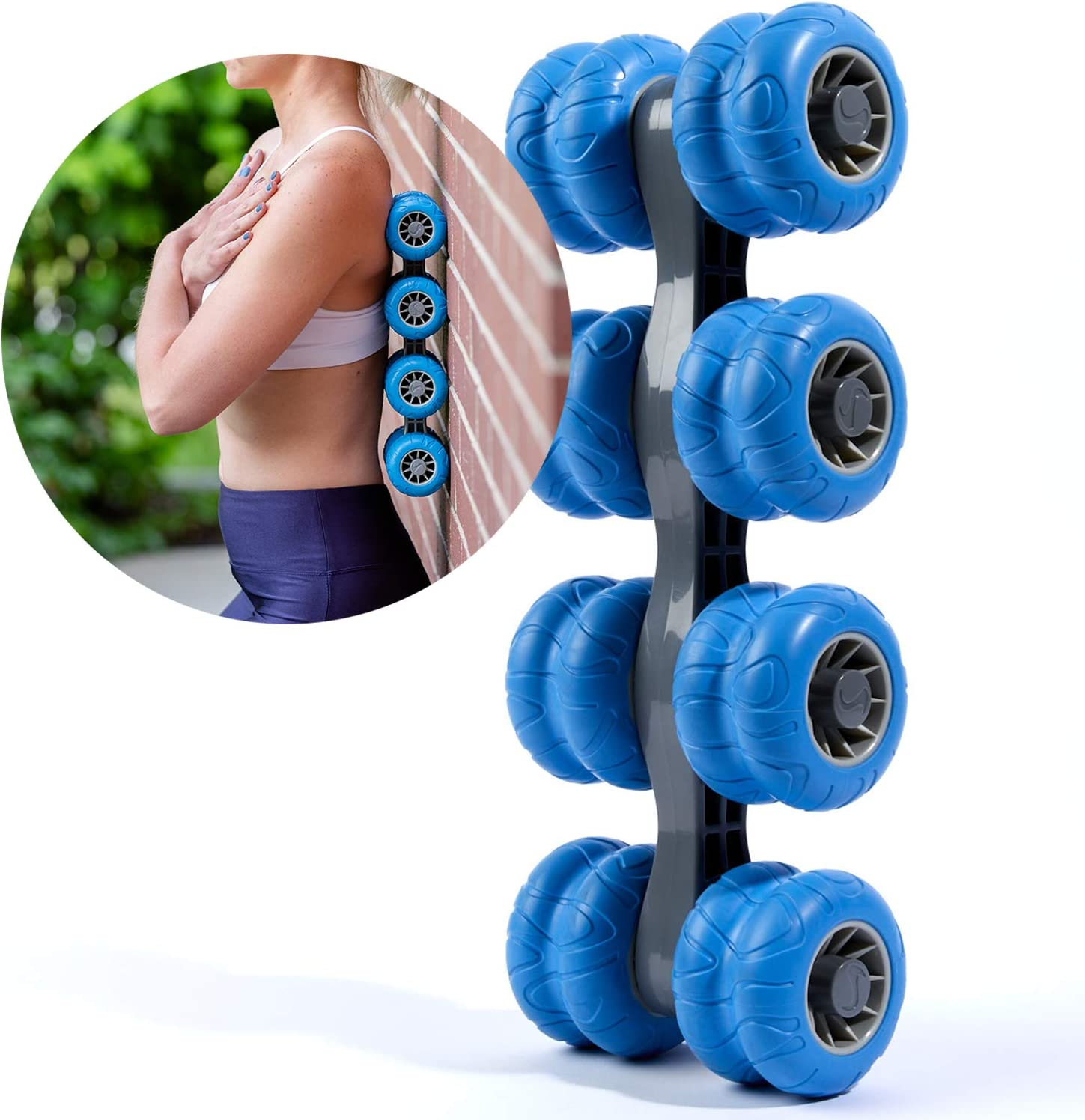 Thorex Back Massage Roller for Deep Tissue Muscle Release, Improves Posture, Upper and Lower Back Pain Relief, for Men & Women, Chiropractor Approved