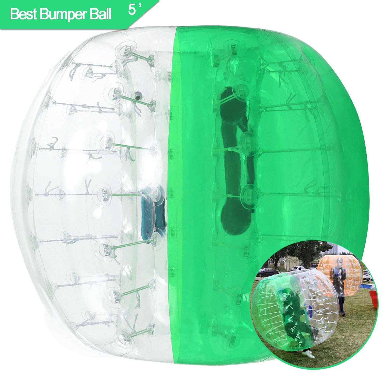 FastインフレータブルバンパーボールDia 5 ' (1.5 M) バブルサッカーボールHumanハムスターボール大人とティーン B07FG7W6JW 1.5M-Green 1.5M-Green