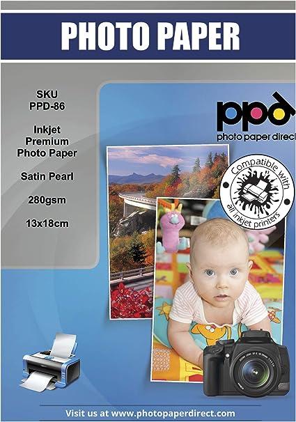 PPD Inkjet 280 g//m2 Fotopapier Seidenmatt 13x18cm x 50 Blatt PPD-86-50
