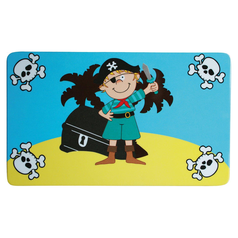 1 x Fr/ühst/ücksbrettchen Kinder Pirat mit Schatztruhe Geburtsgeschenk Jungen Fr/ühst/ück Essbrett Preis am Stiel/® Geschenkidee zum Geburtstag Piraten Brettchen