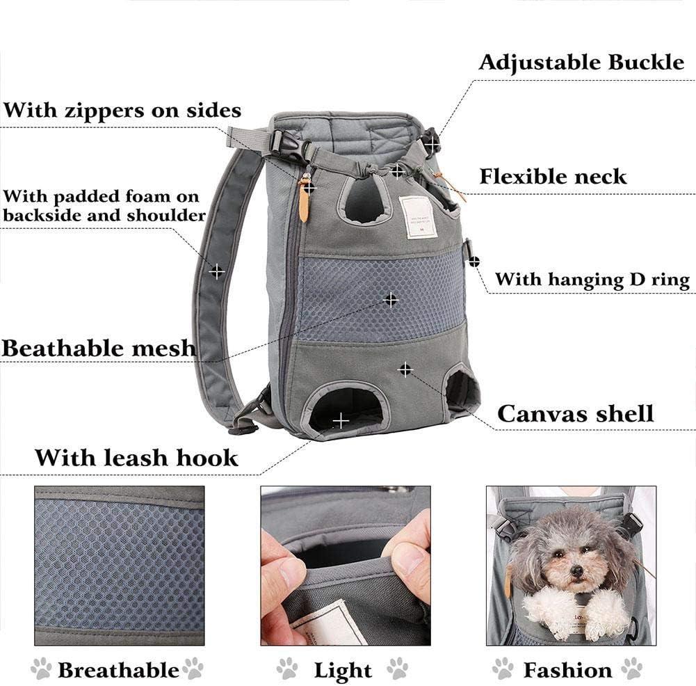 Caminar Caminar Hffheer Mochila para transportador de Perros Bolsa de Viaje c/ómoda para Mascotas Bolsa Ajustable de Gato para Perros Mochila Exterior para Mascotas Bolsa para Transportar Rojo