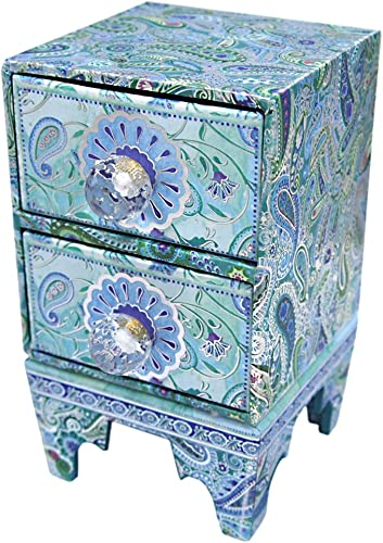 Punch Studio Mini Chest-Paisley Peacock 44012