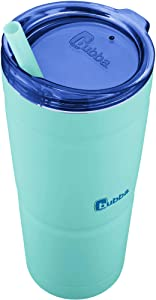 BUBBA S ENVY 24 oz Stainless Steel Tumbler | Secure Straw | Double Wall Vacuum Seal | Keeps drinks cool and hot | Removable lid | No sweating easy-grip (Island Teal/Blue Top)