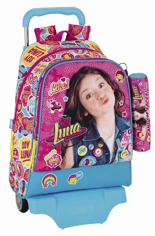Soy Luna - gran cartabe con ruedas 43 cm + Estuche Escolar Random Faces soy Luna Disney: Amazon.es: Equipaje