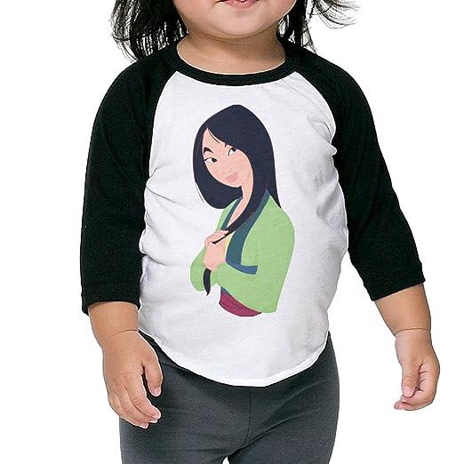 68dc247455a Autumn Kids Toddler Mulan Crew Neck 3 4 Sleeves Raglan T Shirts Black US  Size