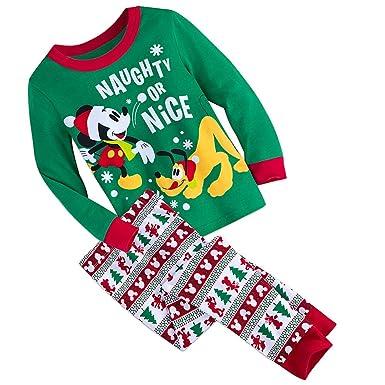 Mickey Mouse Disney Store Naughty or Nice Pluto Boy s Cotton Holiday  Christmas Pajama Set (2 766900db8