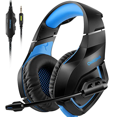 0828f60e65f ONIKUMA Stereo Gaming Headset for PS4 Xbox One, Noise Cancelling Mic Over  Ears Gaming Headphones