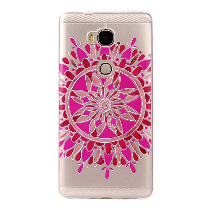 Ecoway TPU Funda Case for Huawei Honor 5X , Ultra Thin Carcasa Anti Slip Soft Bumper Scratch Resistant Back Cover Crystal Clear Flexible Silicone Case ...