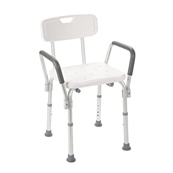 Amazon.com: Drive Medical 12445-1 Bath Bench with Padded Arms ...
