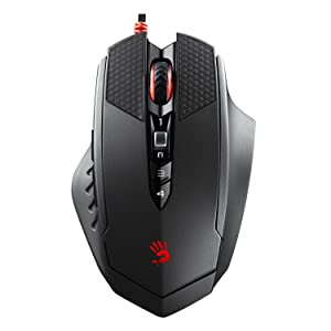 TL70 Laser Gaming Mouse with Rubberized Grip - Light Strike Optical Switches Mouse Buttons - Infra-red Mouse Wheel - 9 Programmable Buttons Tuning & Macro Settings - Palm Grip [8200 CPI/DPI]
