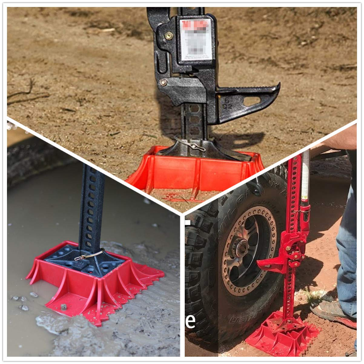 Seven Sparta Off-Road Base for Hi Lift Jack PP Pad to Alleviate Jack Hoisting Sinkage (Red) by Seven Sparta (Image #2)