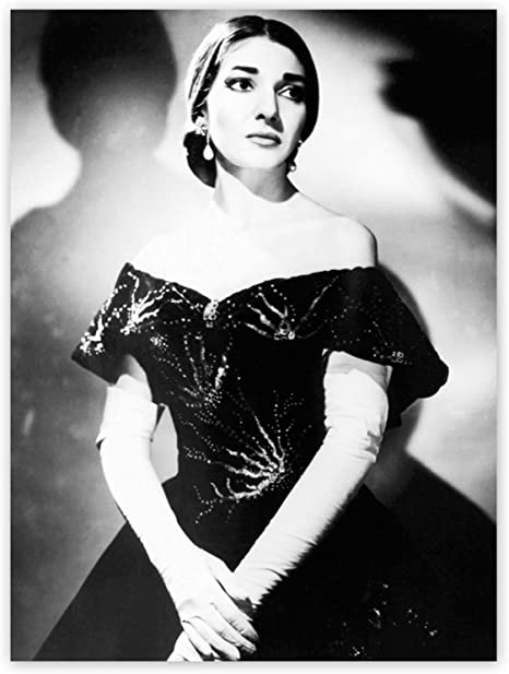 Art print POSTER Canvas Maria Callas on Stage