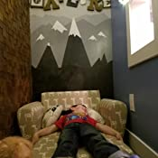 Amazon.com: Elástico sofá infantil de fiestas de pijamas ...