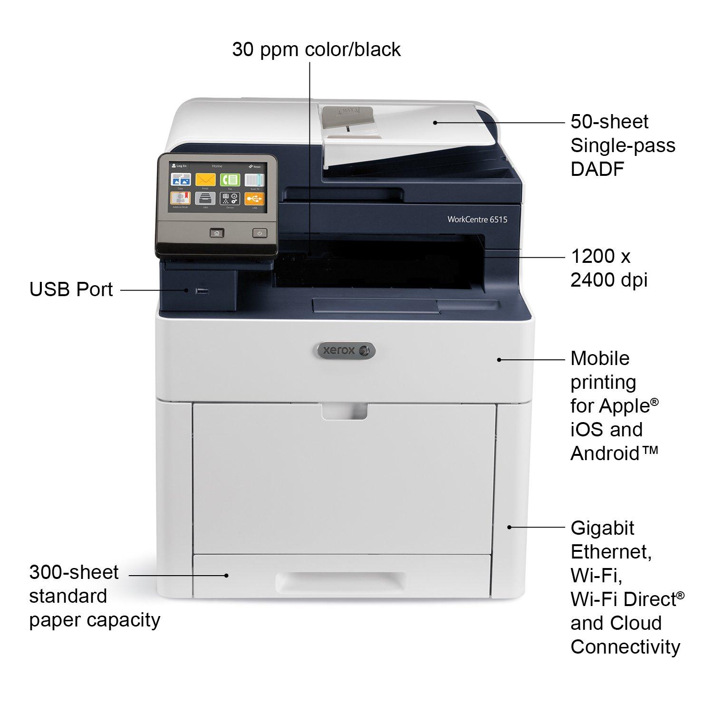 Xerox WorkCentre 6515 DNI Color MultiFunction Printer Amazonca Electronics