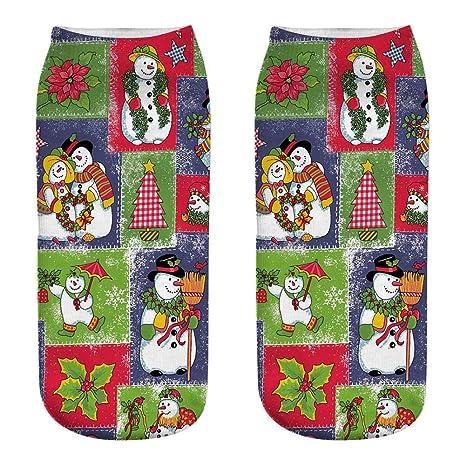 Hosaire 1pares Calcetines Navidad Patrón Lindo de Las Mujeres,Deportes de algodón Ocasionales Calcetines de
