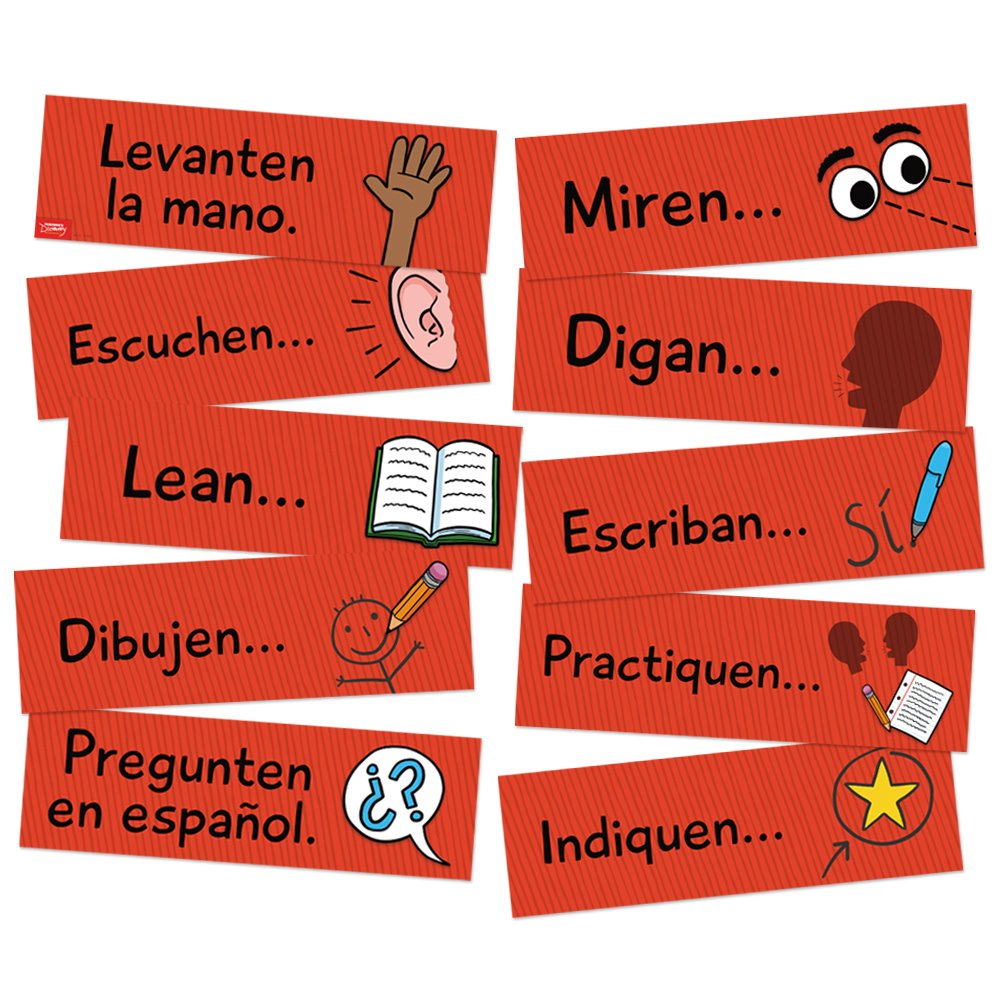 Classroom Commands Spanish Signs by Teacher's Discovery
