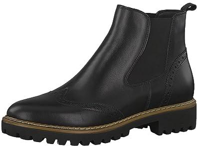 TAMARIS SCHUHE STIEFEL Damen Stiefelette Boots Leder Schwarz Gr.40 TOP!