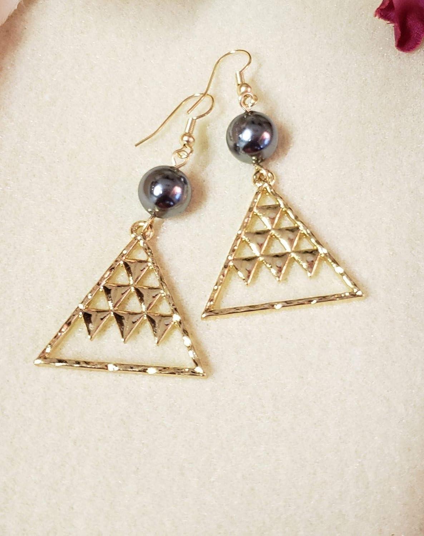 Gold Mauna Kea Pearl Earrings