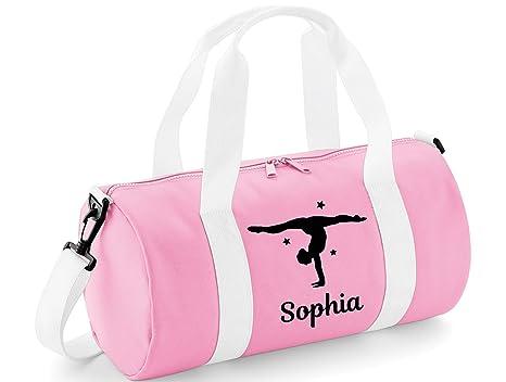 f80449877c beyondsome Personalised Womens Girls Dance Gymnastics Uniform Kit Bag (Baby  Pink   White Black