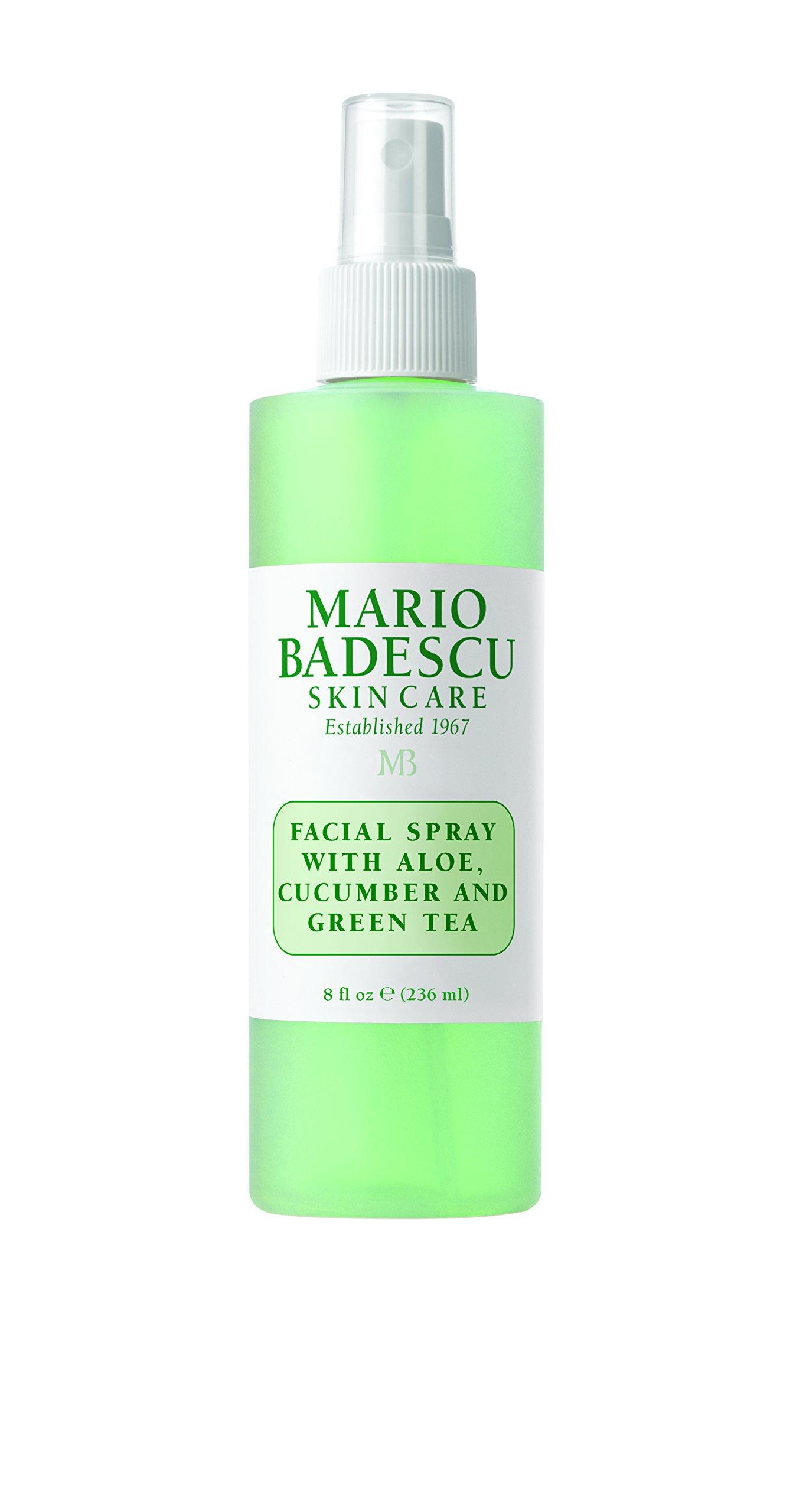 Mario Badescu Facial Spray with Aloe,Cucumber and  Green Tea, 8 Fl Oz