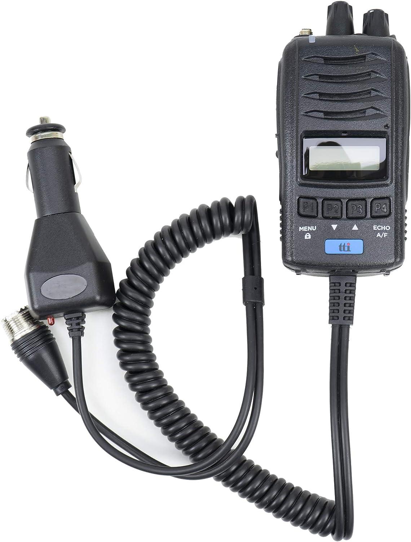 Radio CB portátil TTi TCB-H100, Fuente de alimentación de 12V / 24V, Roger Beep, Squelch