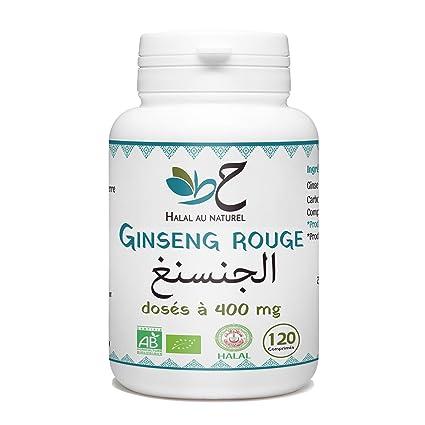 Ginseng Bio Halal - 400 mg por comprimido - 120 Pastillas ...