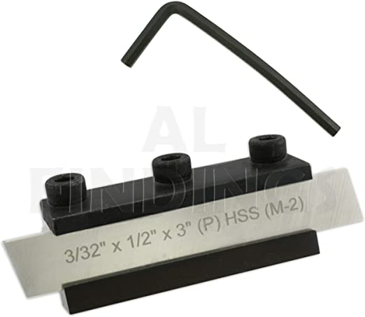 "Lathe Clamp Type Parting Cut Off Tool Holder 10mm Shank With 1//2/"" HSS Blade x 5"