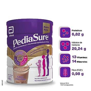 PediaSure - Complemento alimenticio para niños con proteínas, vitaminas y minerales, sabor chocolate - 850 gr
