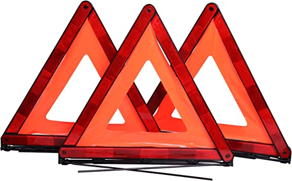 Foldable Europe Travel Safety Warning Triangle and Hi-Vis Vest