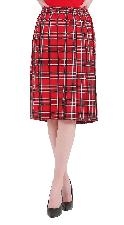 Islander Fashions Womens Falda de tartn Plateada en Rojo y Azul de ...