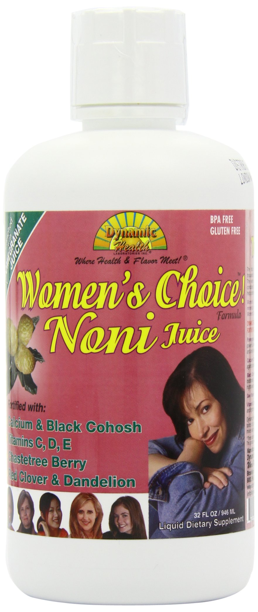 Dynamic Health Womens Choice, Noni Juice Formula, 32-Ounce