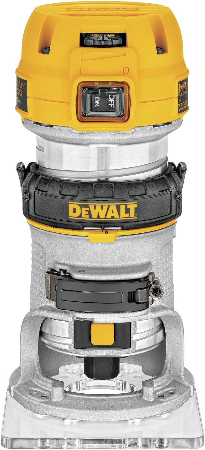DEWALT Router, Fixed Base, Variable Speed, 1-1 4-HP Max Torque DWP611
