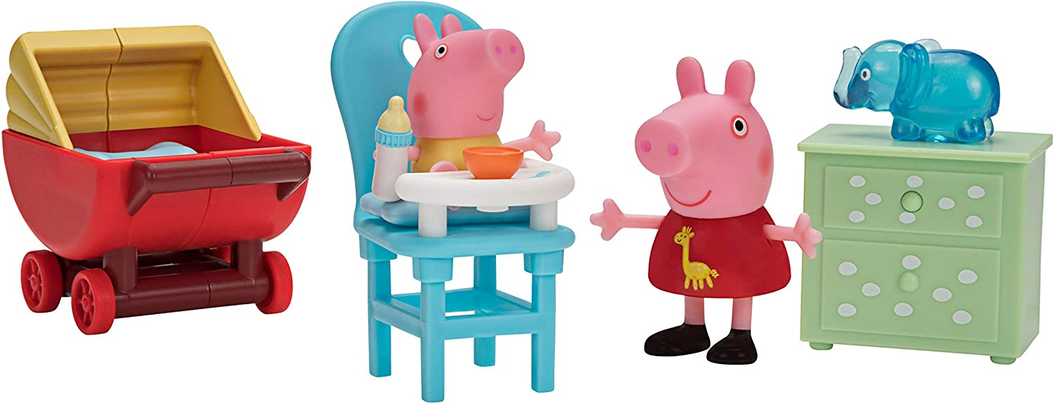 Peppa Pig Little Rooms Baby Alexander's Visit